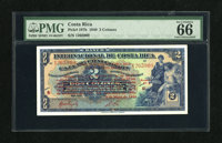 Costa Rica Banco Internacional De Costa Rica 2 Colones 1940 Pick 197b This is the scarce variety with the red overprint...