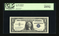 Fr. 1621 $1 1957B Silver Certificate. PCGS Superb Gem New 69PPQ. Broad margins encircle this Ace that is only one point...