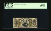 Fr. 1324 50c Third Issue Spinner PCGS Choice New 63PPQ. It appears that the only hinderance to this note is the cut of t...