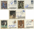 Autographs:Others, Gateway Covers with 7 Autographs Including Willie Mays. Fivepostmarked commemorative envelopes with autographs include Gay...