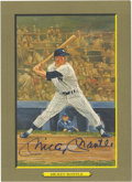 Autographs:Post Cards, Mickey Mantle Signed Perez-Steele Postcard. A nice autographedMickey mantle 1985 Perez-Steele Greatest Moments card in blu...