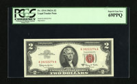 Fr. 1514 $2 1963A Legal Tender Note. PCGS Superb Gem New 69PPQ. Near-perfect centering and broad margins helped this lov...