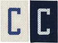 """Football Collectibles:Others, 1983 Team-Issued Dallas Cowboys Captain """"C"""" Patches. A trend that never quite caught on in football, the occurrence of C-cl..."""