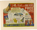 Baseball Collectibles:Others, Babe Ruth Notepad & Quaker Oats Advertising Sign. Intriguingpair celebrates the greatest figure in baseball history. Firs...