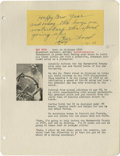 "Autographs:Others, 1949 Gar Wood Signed Handwritten Note. Brief greeting from theWorld Champion speedboat driver reads, ""Happy New Year and m..."