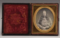 Photography:Daguerreotypes, CASED DAGUERREOTYPE OF CALIFORNIA GOLD RUSH MOUNTAIN MAN ca 1850s This cased one sixth (1/6th) plate daguerreotype appears ... (Total: 1 Item)