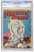 Golden Age (1938-1955):Horror, Forbidden Worlds #9 (ACG, 1952) CGC FN/VF 7.0 Off-white to whitepages....