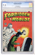 Golden Age (1938-1955):Horror, Forbidden Worlds #10 (ACG, 1952) CGC VF- 7.5 Off-white to whitepages....