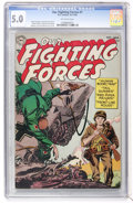 Golden Age (1938-1955):War, Our Fighting Forces #1 (DC, 1954) CGC VG/FN 5.0 Off-white pages....