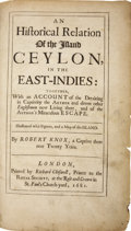 Books:Early Printing, Robert Knox. An Historical Relation of the Island Ceylon,...