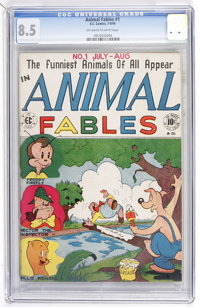 Animal Fables #1 (EC, 1946) CGC VF+ 8.5 Off-white to white pages
