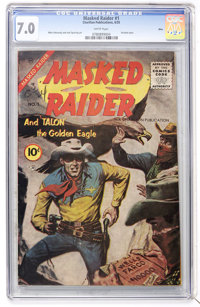 Masked Raider #1 Ohio pedigree (Charlton, 1955) CGC FN/VF 7.0 White pages