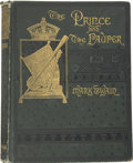 Books:First Editions, Mark Twain. The Prince and the Pauper. A Tale for YoungPeople of All Ages. Boston: James R. Osgood and Company,...