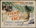 "Movie Posters:Science Fiction, Fiend Without a Face (MGM, 1958). Half Sheet (22"" X 28""). ScienceFiction...."
