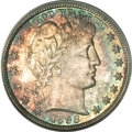 Barber Half Dollars, 1898 50C MS67 PCGS. CAC....