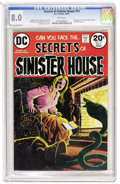 Bronze Age (1970-1979):Horror, Secrets of Sinister House #14 (DC, 1973) CGC VF 8.0 White pages....