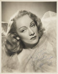 Movie/TV Memorabilia:Autographs and Signed Items, Marlene Dietrich Signed Photos.... (Total: 3 Items)