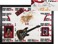 Music Memorabilia:Autographs and Signed Items, Stevie Ray Vaughan Signed T-Shirt Display (1989)....