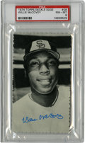 Baseball Cards:Singles (1970-Now), 1974 Topps Deckle Edge Willie McCovey #28 PSA NM-MT 8....