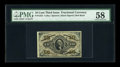 Fractional Currency:Third Issue, Fr. 1253 10c Third Issue PMG Choice About Unc 58....