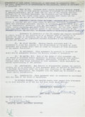 Movie/TV Memorabilia:Autographs and Signed Items, Lucille Ball and Desi Arnaz Signed Contract and Four RoyaltyStatements.... (Total: 5 Items)