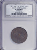 Colonials, 1783 COPPER Nova Constellatio Copper, Pointed Rays, SmallUS--Corroded--NCS. XF Details. PCGS Population...