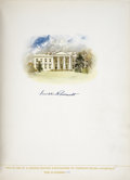 Books:Signed Editions, [Franklin Roosevelt]. The Democratic Book 1936.Philadelphia: C. Brill, 1936....