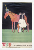 "Music Memorabilia:Posters, Tomi Ungerer Unicorn Poster (Darien House, 1968) 30"" x 40""...."