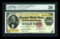 Large Size:Gold Certificates, Fr. 1214 $100 1882 Gold Certificate PMG Very Fine 30....