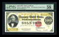 Large Size:Gold Certificates, Fr. 1215 $100 1922 Gold Certificate PMG Choice About Unc 58 EPQ....