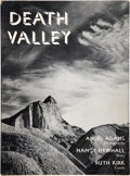 Books:Signed Editions, Ansel Adams. Death Valley. Photographs by Ansel Adams. Story by Nancy Newhall. Guide by Ruth Kirk. Maps Drawn by...