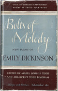 Books:First Editions, Emily Dickinson. Mabel Loomis Todd and Millicent Todd Bingham[editors]. Bolts of Melody: New Poems of Emily Dickinson...