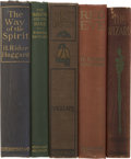 Books:Fiction, Lot of Five H. Rider Haggard Novels, Most First Editions,...(Total: 5 Items)