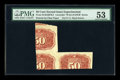 "Fractional Currency:Second Issue, Second Issue 50c ""Wallpaper"" Series Experimental Block PMG About Unc 53..."