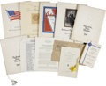 Political:Miscellaneous Political, Franklin D. Roosevelt: Collection of Dinner Menus and SpeakingEngagement Programs.. -Eleven individual items.. -All items i...(Total: 11 Items)