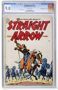 "Golden Age (1938-1955):Western, Straight Arrow #1 Davis Crippen (""D"" Copy) pedigree (MagazineEnterprises, 1950) CGC VF/NM 9.0 Off-white pages...."