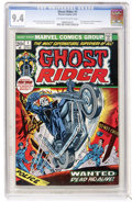 Bronze Age (1970-1979):Horror, Ghost Rider #1 (Marvel, 1973) CGC NM 9.4 Off-white to whitepages....