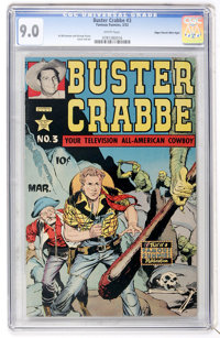 Buster Crabbe #3 Mile High pedigree (Famous Funnies, 1952) CGC VF/NM 9.0 White pages