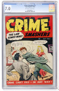 Golden Age (1938-1955):Crime, Crime Smashers #1 (Ribage Publishing, 1950) CGC FN/VF 7.0 Off-white to white pages....