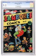 Golden Age (1938-1955):Funny Animal, Jamboree Comics #1 (Round, 1946) CGC NM- 9.2 Off-white to whitepages....