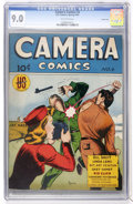 Golden Age (1938-1955):Miscellaneous, Camera Comics #4 Carson City pedigree (U. S. Camera Publishing Corp., 1945) CGC VF/NM 9.0 Off-white pages....