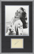 Movie/TV Memorabilia:Autographs and Signed Items, Rita Hayworth Autograph with Photo....