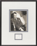Movie/TV Memorabilia:Autographs and Signed Items, Gary Cooper Autograph with Photo (1954)....