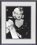 Movie/TV Memorabilia:Autographs and Signed Items, Mae West Signed Photo....