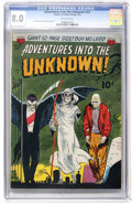 Golden Age (1938-1955):Horror, Adventures Into The Unknown #27 (ACG, 1952) CGC VF 8.0 Off-whitepages....