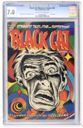 Golden Age (1938-1955):Horror, Black Cat Mystery #45 (Harvey, 1953) CGC FN/VF 7.0 Cream tooff-white pages....