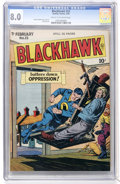 Golden Age (1938-1955):War, Blackhawk #23 (Quality, 1949) CGC VF 8.0 Cream to off-whitepages....