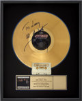 Music Memorabilia:Awards, Robert Cray Band Signed Don't Be Afraid of the Dark RIAAGold Album Award....