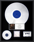 Music Memorabilia:Awards, Vaughan Brothers Family Style RIAA Platinum Album Award....