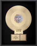 "Music Memorabilia:Awards, Prince and the New Power Generation ""Cream"" RIAA Gold SingleAward...."